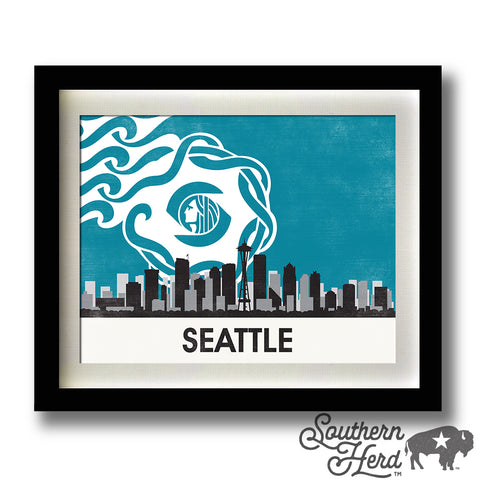 Seattle Skyline City Flag