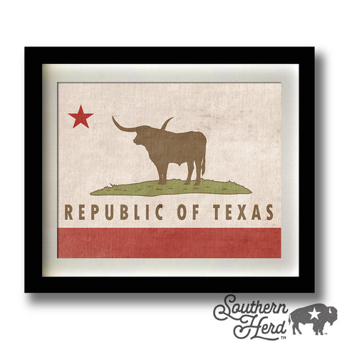 Republic of Texas / California Flag Mashup