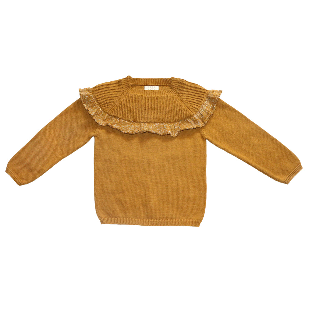 Mustard Flounced Sweater