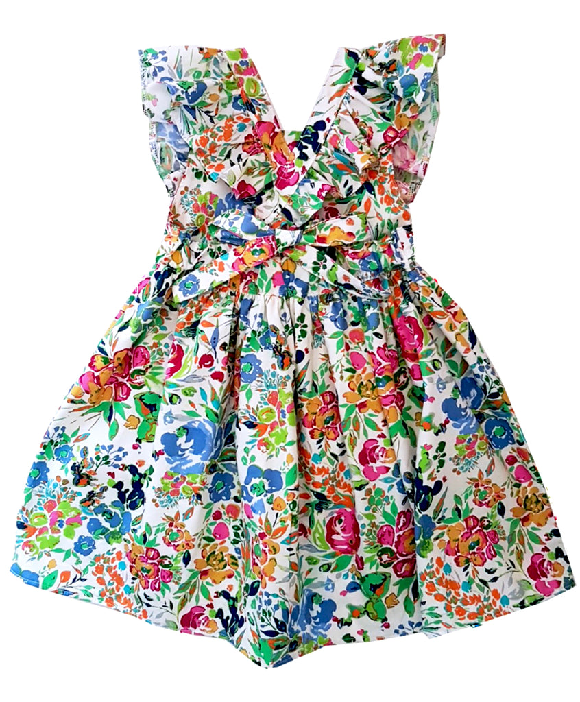 Garden Cross Strips Dress