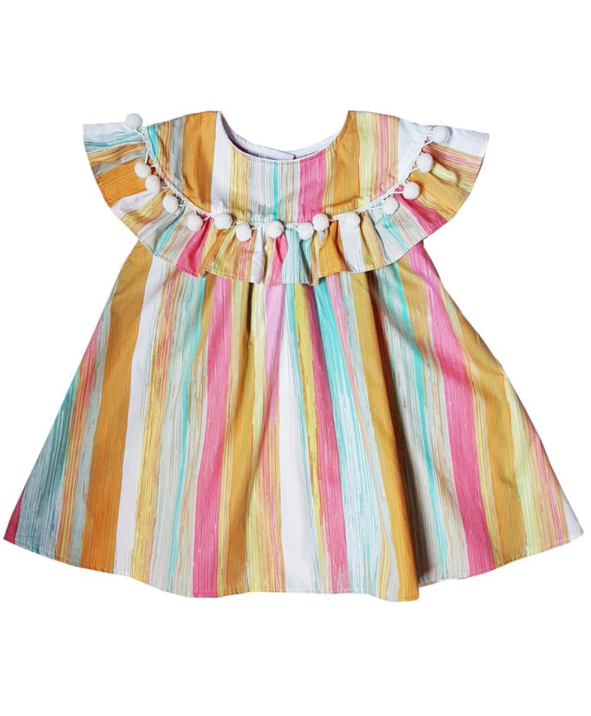 Multi Stripes Vintage Dress