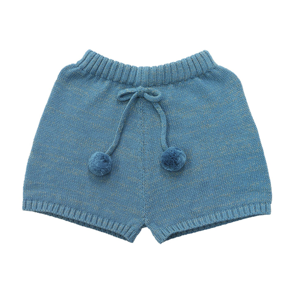 Rain Knitted Blue Shorts