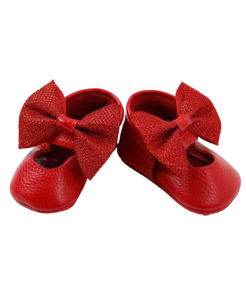 Red & Shinny Doll Shoes