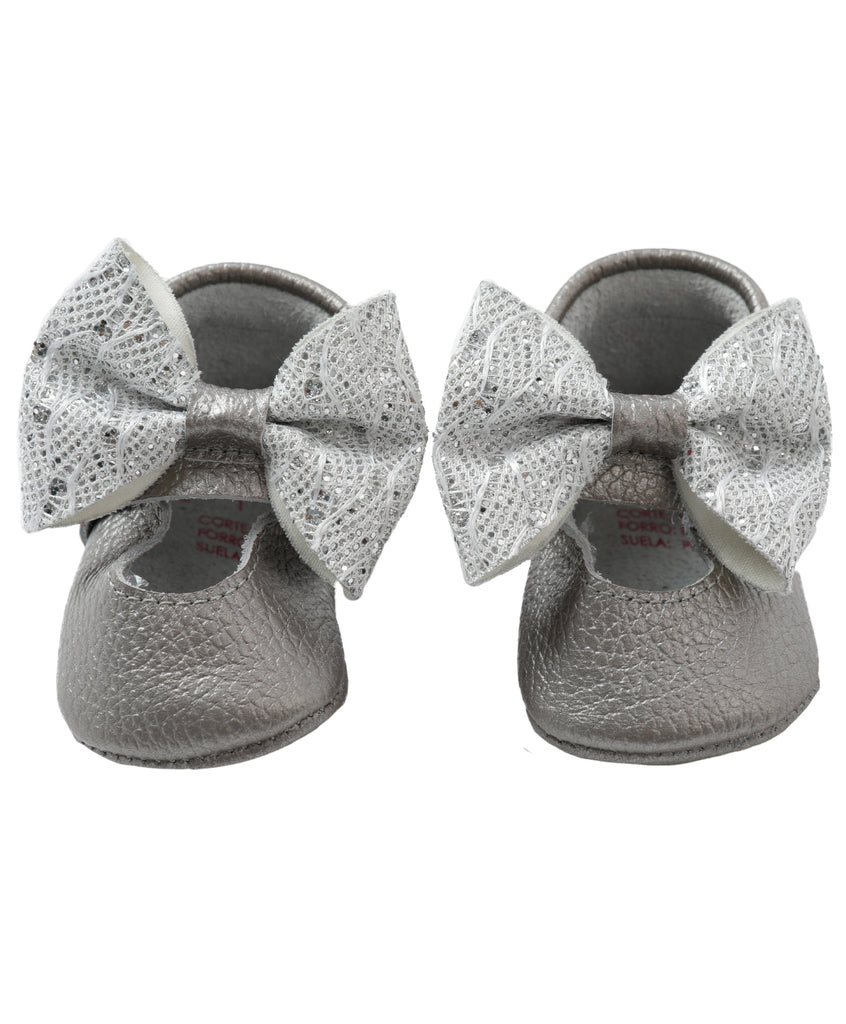 Silver & Shinny Doll Shoes