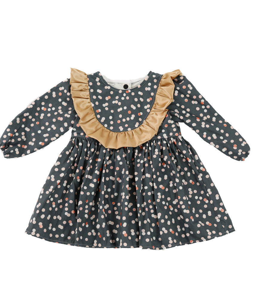 Spots on Dark Blue Dress