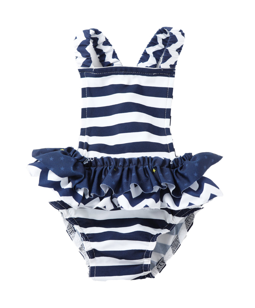 Blue Baby Overall Swimsuit