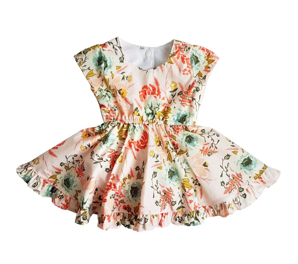 Mini Vintage Flower Dress
