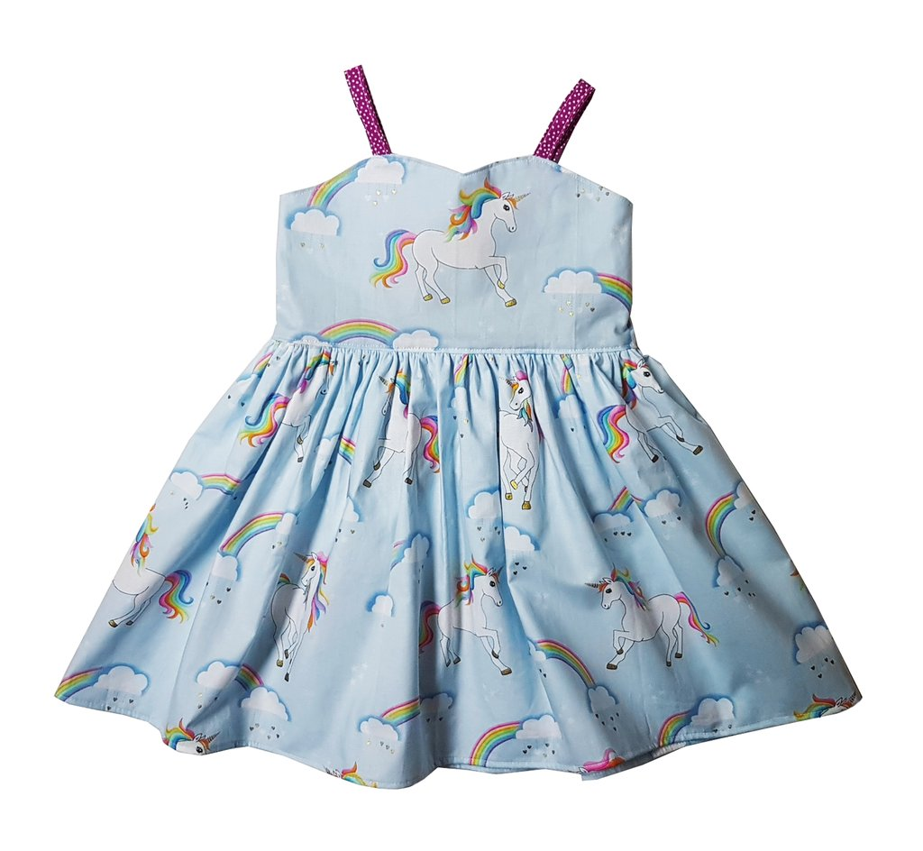 Unicorn Blue Straps Dress