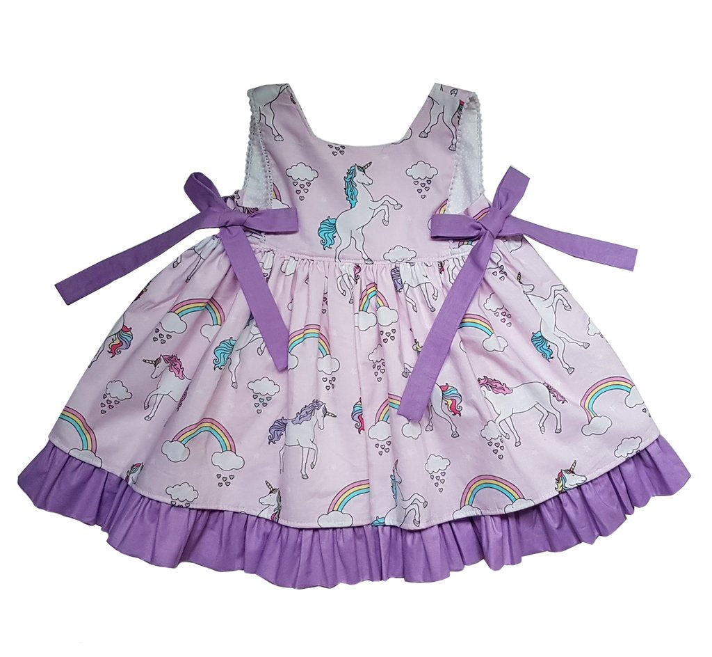 Unicorn Bow Pink Dress