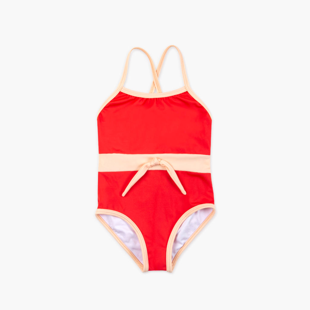 Retro Red One Piece Swimsuit