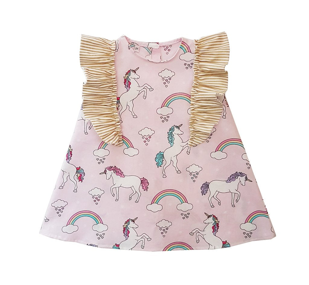 Unicorn Golden Sleeves Dress