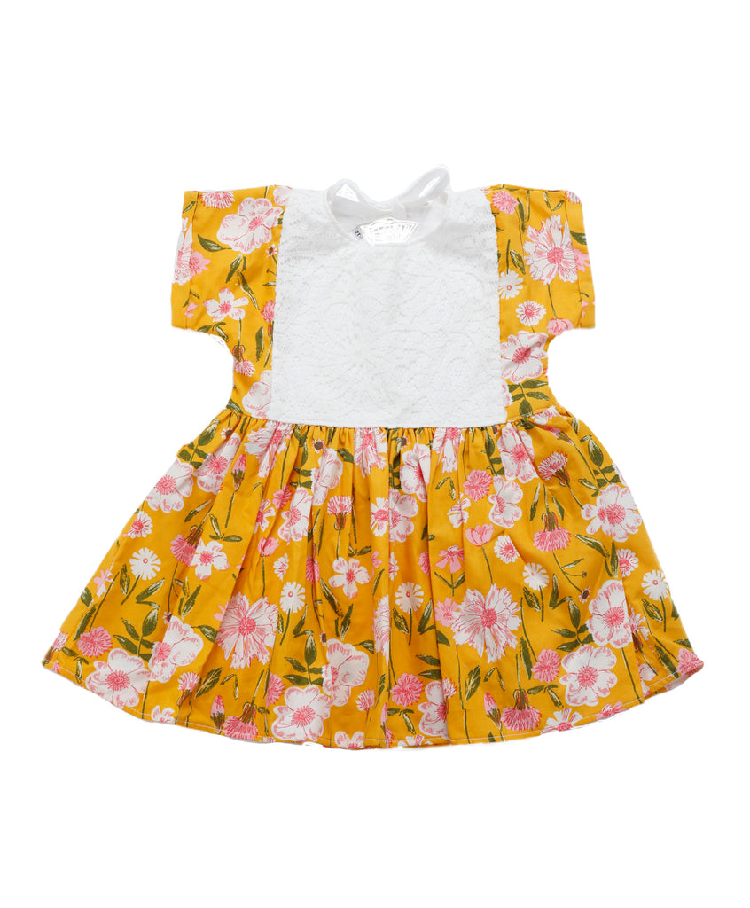 Pixie Yellow Flowers Dress