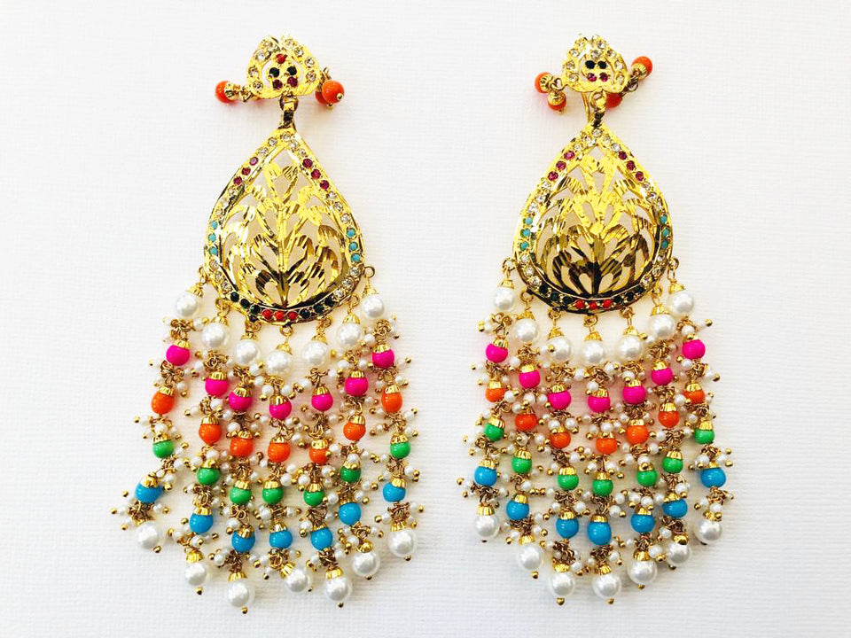 Rainbow Earrings & Tikka Set