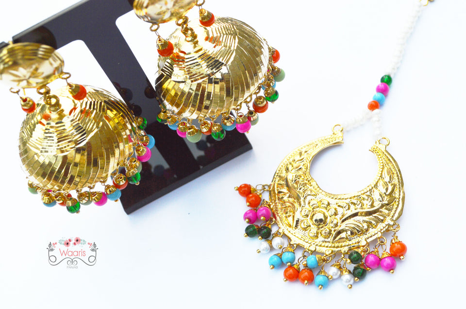 Jhumki Earrings & Tikka Set