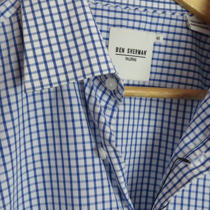 BLUE/WHITE REGULAR FIT SHIRT