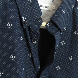 MOSIAC SLIM FIT GEO SHIRT - NAVY BLAZER