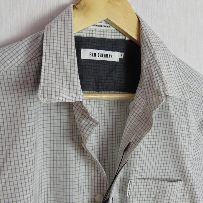 MOD FIT CHECK SHIRT - WINTER WHITE