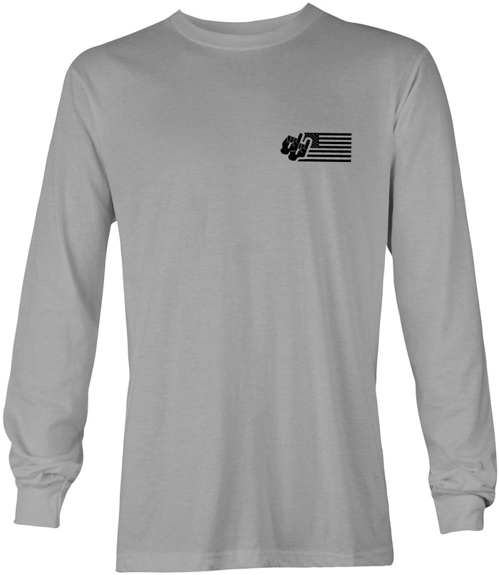 Dynamic Flag Tee / Long Sleeve / Gray