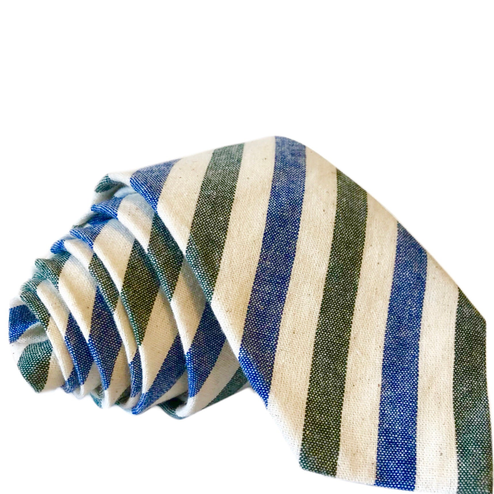 Samuel Stripe Tie in Green