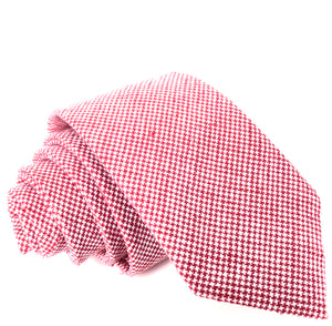 Simon Tie in Checkered Red