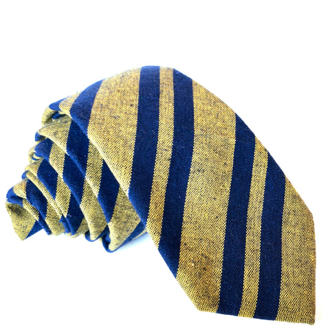 Smith Stripe Tie in Yellow