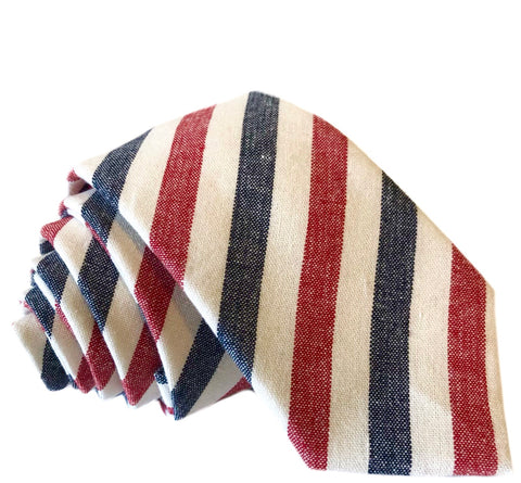 Samuel Stripe Tie in Red