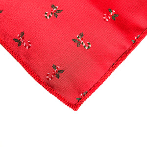 Kringle Candy Cane Pocket Square in Red