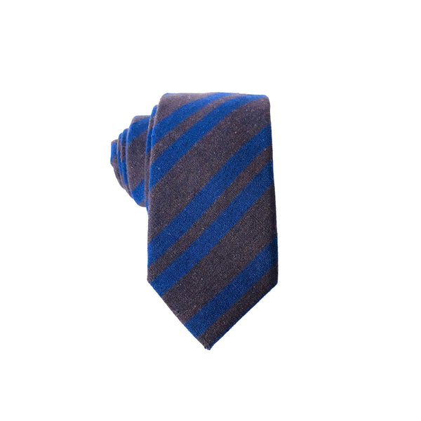 Smith Stripe Tie in Brown