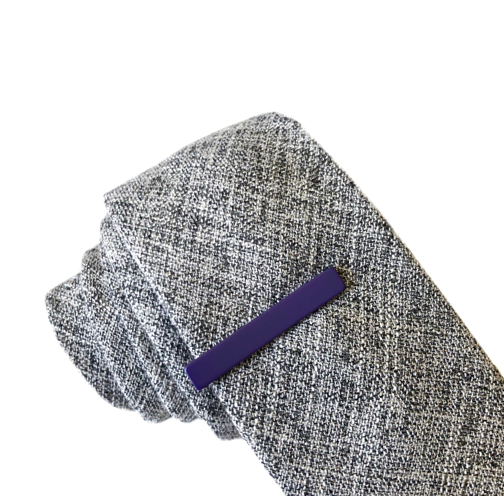 Kent Tie Bar in Dark Purple