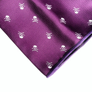 Stratton Skull Pocket Square