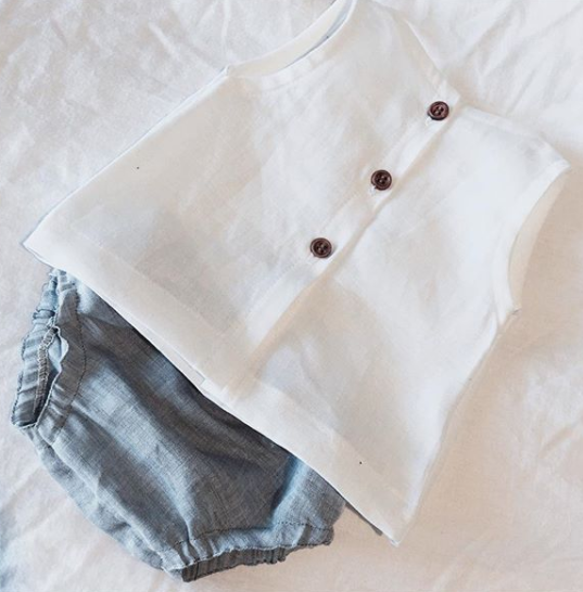 White & Grey Linen Set