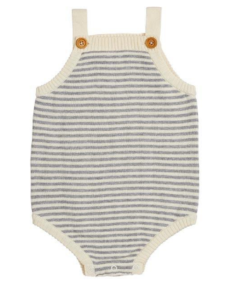 Grey & Cream Stripe Body Suit