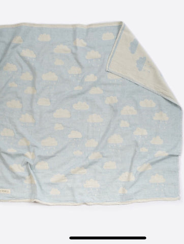 Grey Cloud Bassinet Blanket