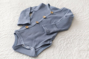 Steel Blue Baby Romper