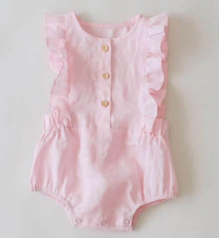 Rose linen Playsuit
