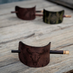 Leather Hair Barrettes/Clips