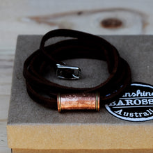Leather and Hand Beaten Copper Wrist Strap/Necklace/Jewellery