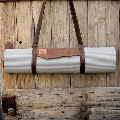 Yoga Mat / Picnic Rug Leather Carry Strap