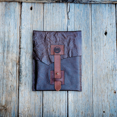 Raw Leather iPad Cover