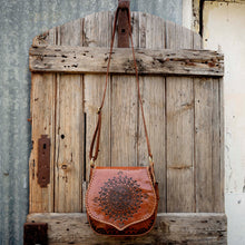 Retro Vibes Carved Leather Handbag