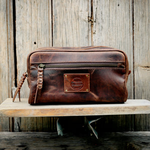 Buffalo Hide Leather Toiletry Bag