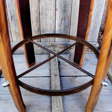 Recycled Wine Barrel Leather or Hide Bar Stool