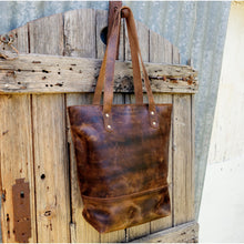 Large Signature Leather Tote