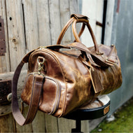 Vintage Leather Duffle/Sports Bag