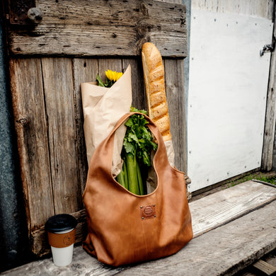 Generous Leather Shopping Bag