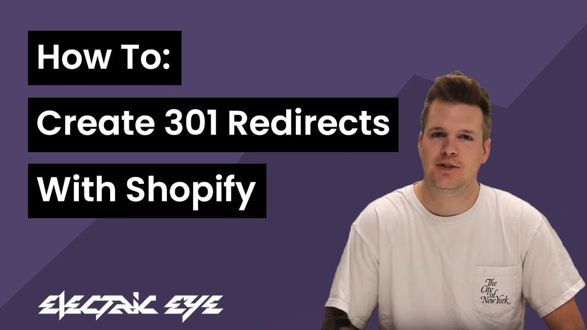 Create 301 redirects with Shopify