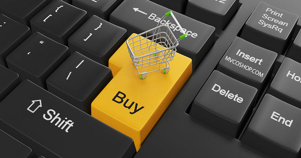 e-commerce on keyboard