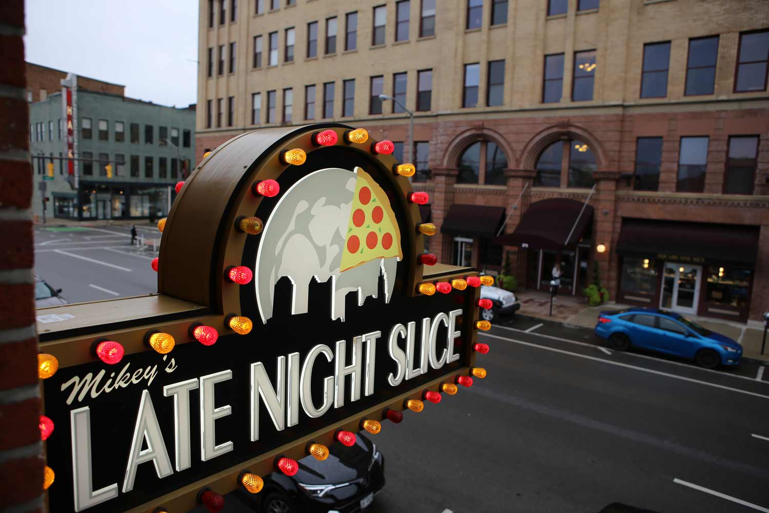 Mikey's Late Night slice graciously serves as our venue for the Shopify meetup Columbus in downtown Columbus Ohio