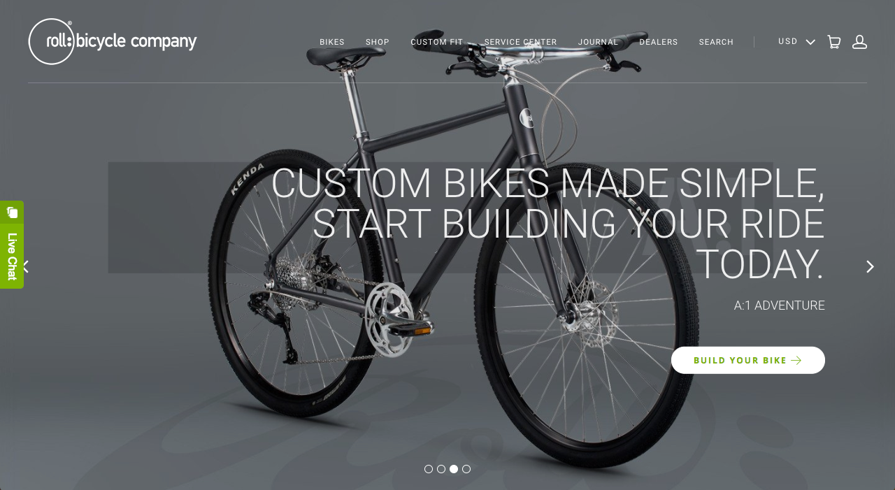 roll: Bicycle Company Homepage