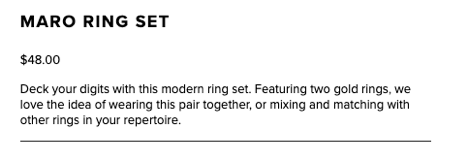 product description from BaubleBar
